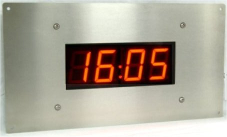 NTP Ethernet  digital clock 4 Digits IP66 RVS Flushmount