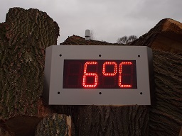 NTP CLOCK OUTDOOR IP66 with Temperature