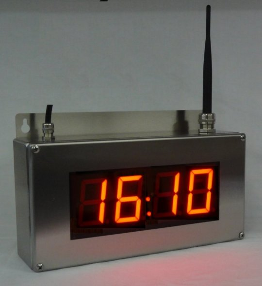 NTP Ethernet  digital clock 4 Digits IP66 RVS WIFI